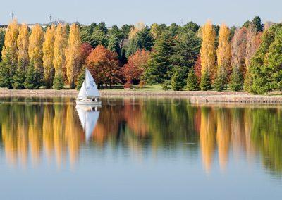 Autumn Lake Burley Griffin