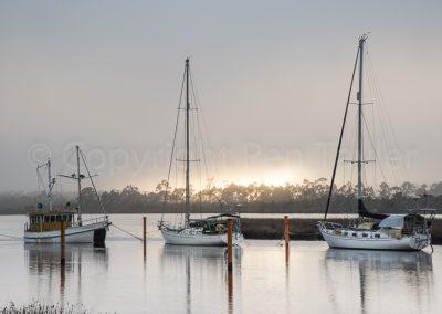 Franklin - sunrise on the river