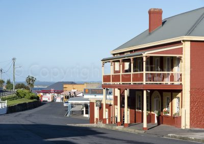 Stanley - Church Street and Stanley hotel in foreground