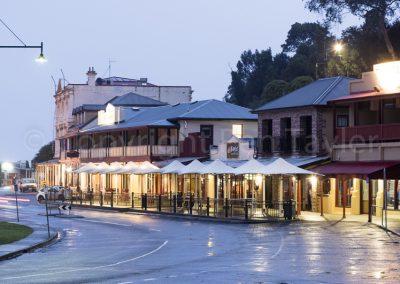 Strahan - The Esplanade showing Hamers Hotel