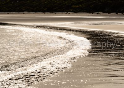 Wave patterns Killiecrankie beach