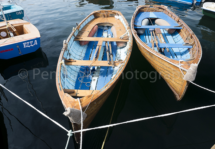 Wooden dinghies at Hobart wharf